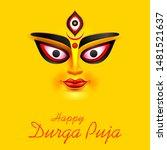 illustration of goddess durga...   Shutterstock .eps vector #1481521637