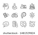 set of people icons  such as... | Shutterstock .eps vector #1481529824