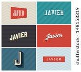 name javier  graphic design...   Shutterstock .eps vector #148153319