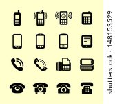 Telephone Icon Set For Web