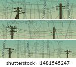 set of horizontal banners with... | Shutterstock .eps vector #1481545247