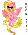 Flying Pink Horse  Fairy Tale...
