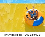 summer fun at aqua park  | Shutterstock . vector #148158431