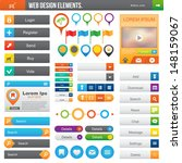 elements for website  color... | Shutterstock .eps vector #148159067
