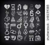 36 hand drawing doodle icon set ... | Shutterstock . vector #148159385