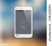 abstract white mobile phone...