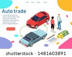 the customer buys a new car....   Shutterstock .eps vector #1481603891