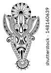 black line art ornate flower... | Shutterstock . vector #148160639