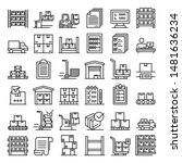inventory icons set. outline...   Shutterstock .eps vector #1481636234