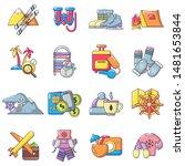 recreational activity icons set.... | Shutterstock .eps vector #1481653844