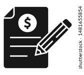 pen check report icon. simple...