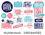 set of labels and stickers for... | Shutterstock .eps vector #1481664581
