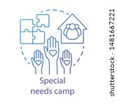 special needs camp concept icon.... | Shutterstock .eps vector #1481667221