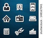 office icons set  | Shutterstock .eps vector #148167041