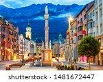 Innsbruck Old town in Alps mountains, Tyrol, Austria