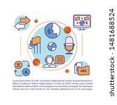 translation business  services... | Shutterstock .eps vector #1481688524
