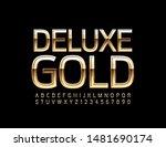 vector deluxe gold alphabet... | Shutterstock .eps vector #1481690174