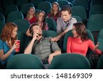 stop talking  young men talking ... | Shutterstock . vector #148169309