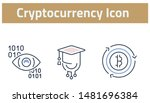 collection of cryptocurrency... | Shutterstock .eps vector #1481696384