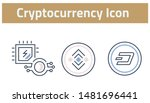collection of cryptocurrency... | Shutterstock .eps vector #1481696441