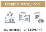 collection of cryptocurrency... | Shutterstock .eps vector #1481696444