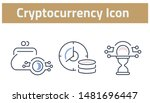 collection of cryptocurrency... | Shutterstock .eps vector #1481696447