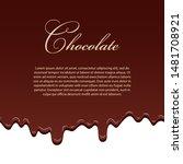 chocolate seamless pattern... | Shutterstock .eps vector #1481708921