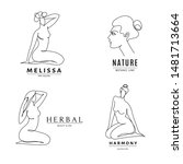 set of four spa salon logo... | Shutterstock .eps vector #1481713664