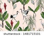 seamless pattern wildlife... | Shutterstock .eps vector #1481715101