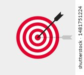 target and arrow vector icon in ... | Shutterstock .eps vector #1481751224