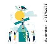 vector illustration flat people....   Shutterstock .eps vector #1481762171
