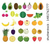 set of fruits   vector | Shutterstock .eps vector #1481762777