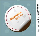 colorful collection label and... | Shutterstock .eps vector #148176779