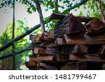 Pile Of Fire Wood Stacked Neatly