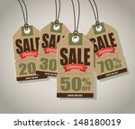 vintage style sale tags design | Shutterstock .eps vector #148180019