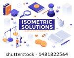 bundle of isometric design... | Shutterstock .eps vector #1481822564