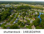 Small photo of Tilt shift blur miniature rural town houses