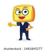 Yellow Box Head Mascot...
