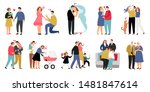 stages of family. development... | Shutterstock .eps vector #1481847614