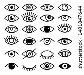 Outline Eye Icons. Open And...