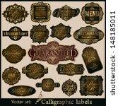 vector set of labels ... | Shutterstock .eps vector #148185011