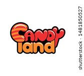 candy land logo design vector | Shutterstock .eps vector #1481850527