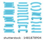 flat vector ribbons banners... | Shutterstock .eps vector #1481878904