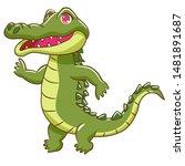 crocodile vector graphic... | Shutterstock .eps vector #1481891687