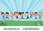 illustration of group of... | Shutterstock .eps vector #1481894681