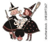 vintage halloween witches to do ... | Shutterstock .eps vector #1481897267