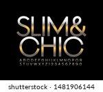 vector slim and chic alphabet.... | Shutterstock .eps vector #1481906144
