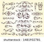 set of decorative elements.... | Shutterstock .eps vector #1481932781