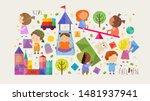 children and kids  set of...   Shutterstock .eps vector #1481937941