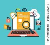 big data  machine algorithms ... | Shutterstock .eps vector #1481965247